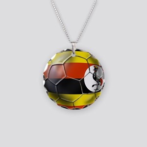 Uganda Football Necklace Circle Charm