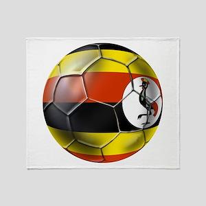 Uganda Football Throw Blanket