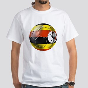 Uganda Football T-Shirts White T-Shirt