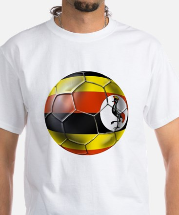 Uganda Football T-Shirts White T-Shirt