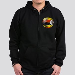 Uganda Football T-Shirts Zip Hoodie (dark)
