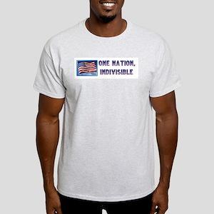One Nation, Indivisible Ash Grey T-Shirt