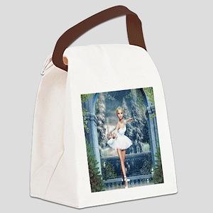 Snow Princess Nutcracker Ballerin Canvas Lunch Bag