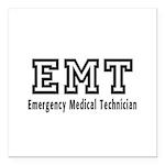 EMT Logo Square Car Magnet 3