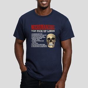 Necromancer Pick Up Lines Men's Fitted T-Shirt (da
