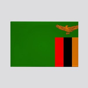 Zambian Flag Rectangle Magnet