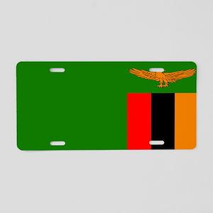 Zambian Flag Aluminum License Plate