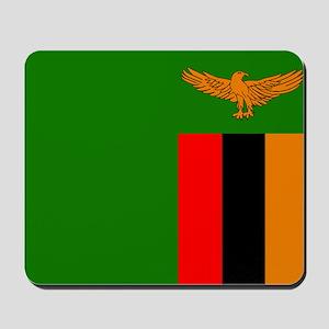 Zambian Flag Mousepad