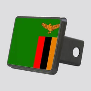 Zambian Flag Rectangular Hitch Cover