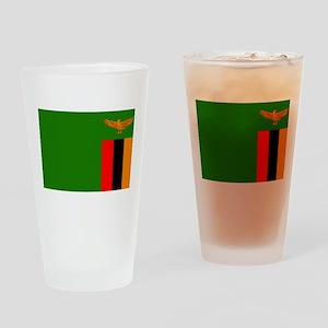 Zambian Flag Drinking Glass