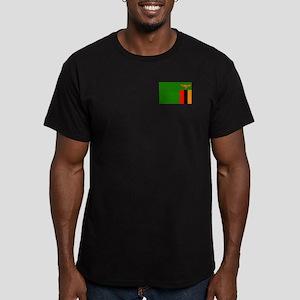 Zambian Flag Men's Fitted T-Shirt (dark)