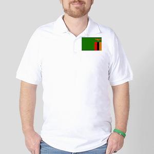 Zambian Flag Golf Shirt