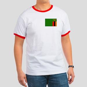 Zambian Flag Ringer T