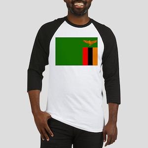 Zambian Flag Baseball Jersey
