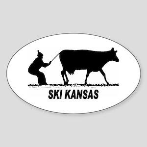 Ski Kansas Oval Sticker