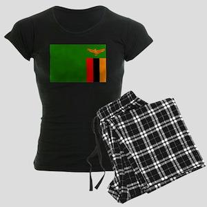 Zambian Flag Women's Dark Pajamas