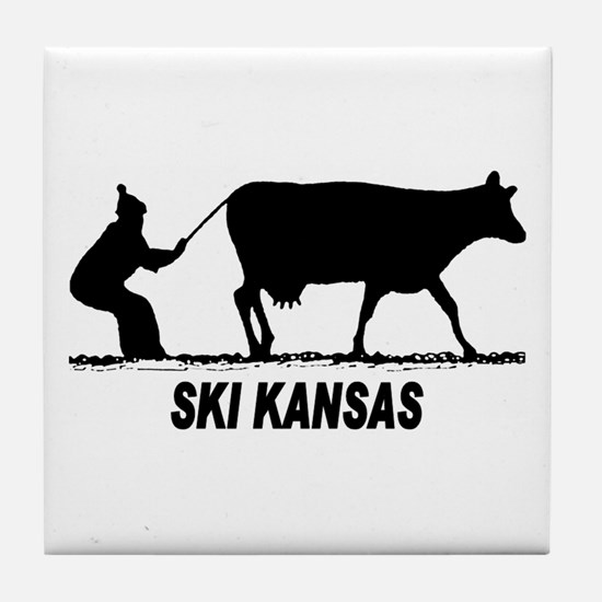 Ski Kansas Tile Coaster