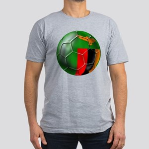 Zambia Football Men's Fitted T-Shirt (dark)