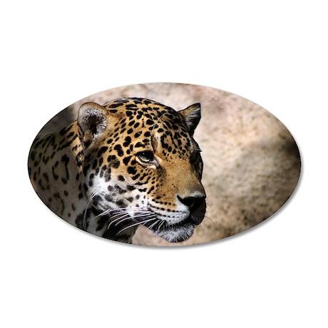 Jaguar 3 22x14 Oval Wall Peel