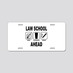Law School Ahead 2 Aluminum License Plate