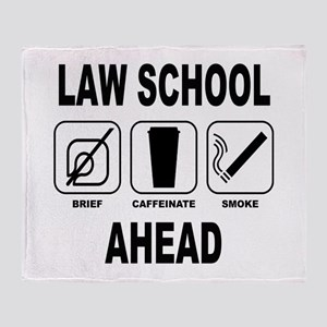 Law School Ahead 2 Throw Blanket