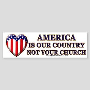 America, Not Your Church Bumper Sticker