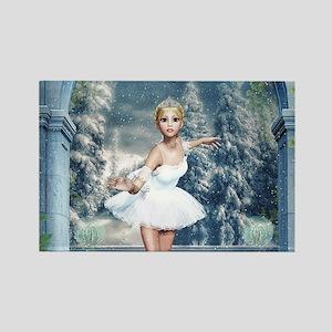 Snow Princess Nutcracker Ballerina Magnets