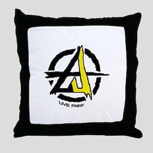 Anarchy / Voluntary Throw Pillow