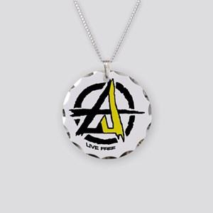 Anarchy / Voluntary Necklace Circle Charm