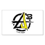 AGORIST Logo Sticker (Rectangle 10 pk)