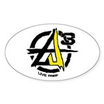 AGORIST Logo Sticker (Oval 50 pk)