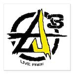 AGORIST Logo Square Car Magnet 3