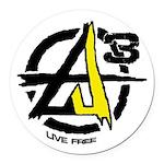 AGORIST Logo Round Car Magnet