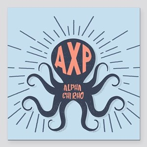 "Alpha Chi Rho Octopus Square Car Magnet 3"" x 3"""