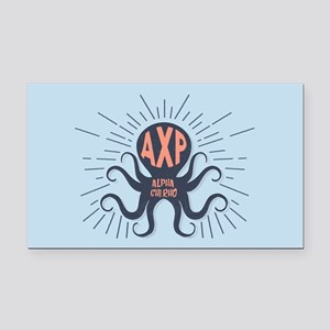 Alpha Chi Rho Octopus Rectangle Car Magnet