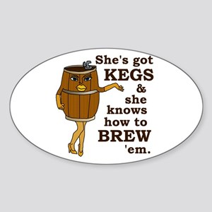 Funny Beer Brewer Sticker (Oval)