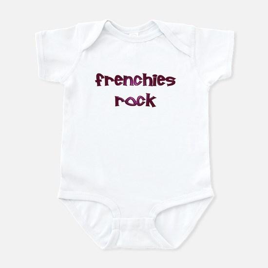 Purple Frenchies Rock Infant Creeper