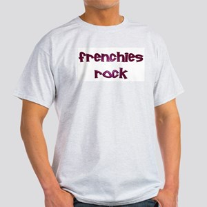 Purple Frenchies Rock Ash Grey T-Shirt