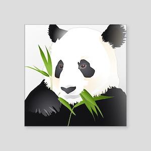 "Panda Bear Square Sticker 3"" x 3"""
