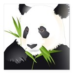 Panda Bear Square Car Magnet 3