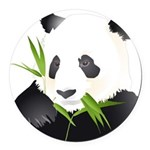 Panda Bear Round Car Magnet