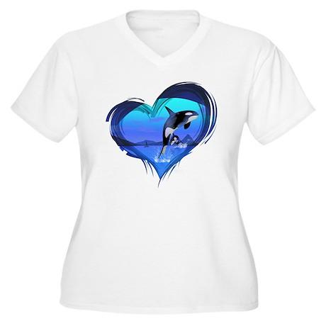Orca Women's Plus Size V-Neck T-Shirt