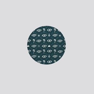 Alpha Chi Rho Pattern Blue Mini Button