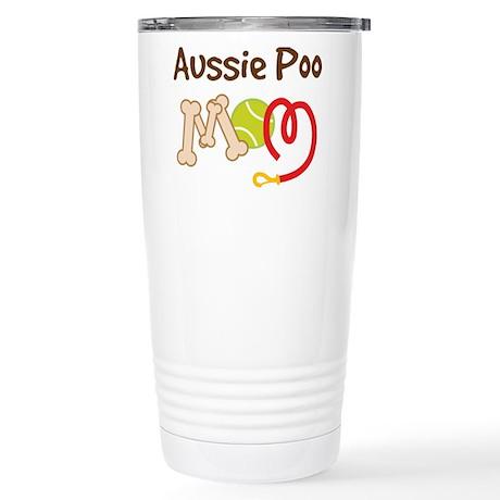 Aussie Poo Dog Mom Stainless Steel Travel Mug