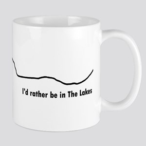 Id rather be in The Lakes (Dark on Light) Mug