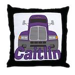 Trucker Caitlin Throw Pillow
