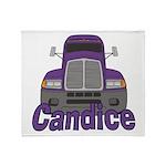 Trucker Candice Throw Blanket