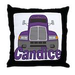 Trucker Candice Throw Pillow