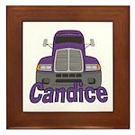 Trucker Candice Framed Tile