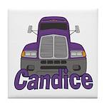 Trucker Candice Tile Coaster